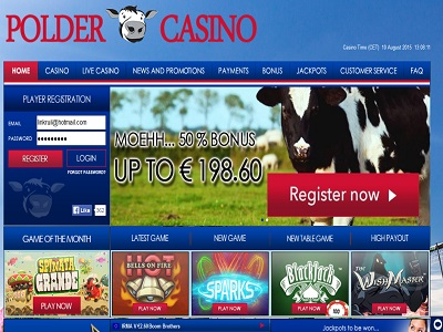 Polder casino met tablet